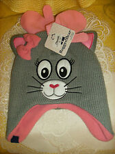 #2 Rugged Bear Infant BABY 12-24 Month Cap & Mittens Kitty cat NEW REG $20
