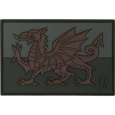 PVC Morale Patch MAXPEDITION - Wales WELSH FLAG 3x2 - STEALTH / Dark Ops