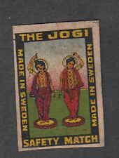 Ancienne étiquette allumettes    Suède    V232 Inde The Jogi