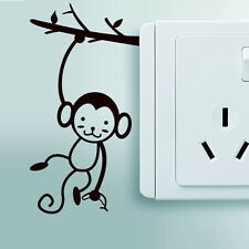 Small Monkey Art Vinyl Wall Sticker Home Wall Decals Switch decor