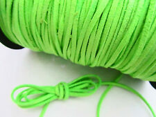 10 yards Genuine Leather Flat Suede Cord 3mm Trim/Lace/Craft T163-Apple Green