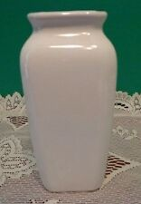 Ceramic Slender Flower Vase White 6""