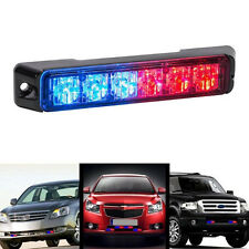 6-LED Red Blue Warning Emergency Hazard Beacon Caution Flash Strobe Light Bar