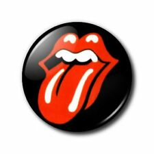 25mm Button Badge - Rolling Stone tongue