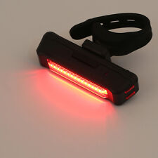 USB Rechargeable Bike Bicycle Light Rear Back Safety Tail Light Red New BE