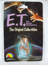 "1982 ET The Extra-Terestrial LJN 2"" Figure w/  Blue Sheet & Book on Display Card"
