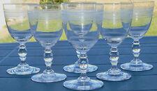 Baccarat? - Service de 6 verres à vin rouge en cristal gravé. XIXe s.
