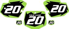 1996-2004 Kawasaki KX500 Custom Pre-Printed Black Backgrounds with Green Shock