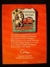 Disney pin DCA Grand Re-opening June 15, 2012 Celebrating Our Cast Pin LE