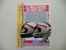 advertising Pubblicità 1987 CASCO ARAI HELMETS FT e FREDDIE SPENCER