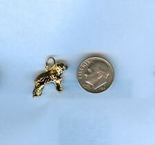 Hand-Crafted Sheep Dog 24kt Gold Plated 3D Dog Charm