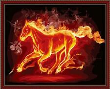 Diy oil painting, paint by number kit- Fire horse 16*20 inch., New, Free Shippin
