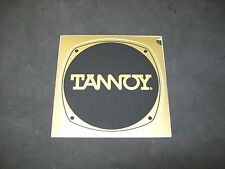 "Tannoy Badge/Emblem,1 New Old Stock, Factory Stick On.  4 1/8"" x  4 1/8"""