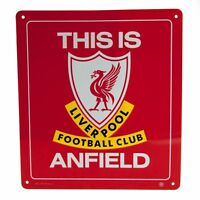 LIVERPOOL FC Official Metal Sign THIS IS ANFIELD   FREE (UK)P+P