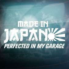 MADE IN JAPAN PERFECTED MY GARAGE Car,Bumper,Window JDM VAG Vinyl Decal Sticker