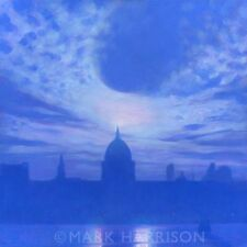 """NEW ORIGINAL MARK HARRISON """"St Pauls From The Globe"""" City of London OIL PAINTING"""