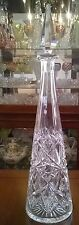 "RARE ABP BACCARAT CUT GLASS  DECANTER PYRAMID 16.5"" TALL ANTIQUE FRENCH CRYSTAL"