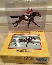 BREYER~SEABISCUIT Race Horse Racing Christmas Holiday Ornament~NIB RARE! 4th