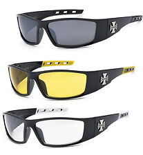 3 Pairs Combo Choppers Sports Biker Motorcycle Riding Glasses Sunglasses - C50