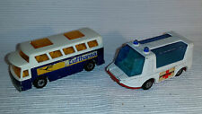 2x alte Spielzeugautos/Vintage toy cars MATCHBOX: Strecha Fetcha & Airport Coach