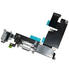 NEW GRAY Charging Port Dock Mic Headphone Jack Flex Cable For iPhone 6 PLUS 5.5""