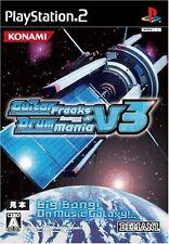Used PS2 GuitarFreaks V3 & DrumMania V3   Japan Import (Free Shipping)