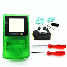 GBC Nintendo Game Boy Color Housing Shell Clear Green Screen Lens MINT NEW