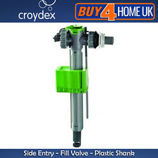 Side Entry Toilet Cistern  Fill Valve Plastic Shank Croydex Telescopic