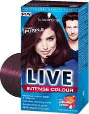 "New Schwarzkopf Professional Live Intense Colour Hair Dye ""Cyber Purple"" 046"