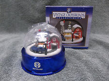 ERTL New Holland Collectable Vintage Crossroads Christmas Snow Globe Lights Up