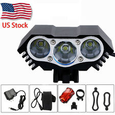 Rechargeable 10000Lm 3x XML U2 LED Head Front Bicycle Bike Light Headlamp SET