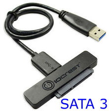 "Slim USB 3.0 to 22 Pin SATA III 2.5"" SSD Hard Disk Drive HDD Adapter Cable 3Gbps"