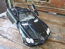 Mercedes Benz SLR McLaren black sports car 1:12 scale model original NIB 15 in.