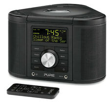 Pure Chronos CD Series 2 DAB / FM / CD STEREO SVEGLIA RADIO NERO CON TELECOMANDO