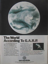 3/1989 PUB AEROSPATIALE GARP WEATHER SATELLITE METEOSAT SPACE ORIGINAL AD