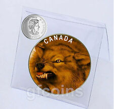 2015 Canada's big Canids Red Wolf Canis Rufus 25 cents