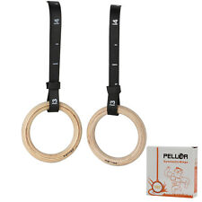Pro Olympic Wooden Gymnastic Rings Sport Gym Exercise Ring Fitness 500kg AUPOST