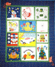 ~ NEW COMPLETE BLOCK OF THE MONTH PATTERN  ~ CAT CALENDAR ~  QUILT SIZE 57X57 ~