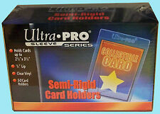 50 ULTRA PRO SEMI RIGID Card Holders NEW Sleeves Flexible Soft Saver 81150