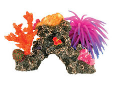 Coral Reef with Silicone Sea Anemone Aquarium Ornament Fish Tank Decoration