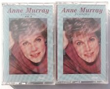 2 Vtg SEALED Anne Murray (FAVORITES, FAVORITES VOL. 2) Cassette US 1988