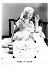 Mamie Van Doren Autograph Untamed Youth Vargas Girls His Kind of Woman Come Back