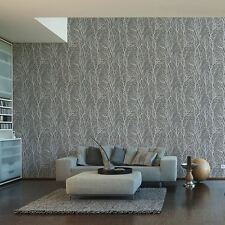 Papel tapiz de ramas de árbol gris oscuro y plateado-AS Creation 300943 Bosque En Relieve