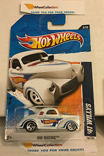 '41 Willys #152 * WHITE Walmart Only * 2011 Hot Wheels * N167