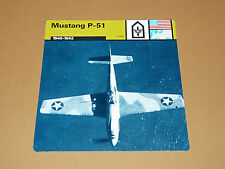 MUSTANG P-51 1940-1942 US AIR FORCE AVIATION FICHE WW2 39-45