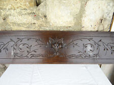 """""""41"""" French Antique Hand Carved Architectural Panel solid Oak Wood Trim"""