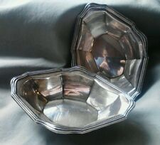 Set Of 2 Birks Sterling Nut Candy Dish/Open Salts
