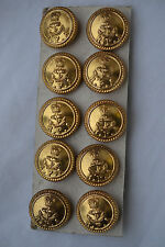 10 Vintage Royal Fleet gilt Auxiliary buttons navy anchor Firmin London