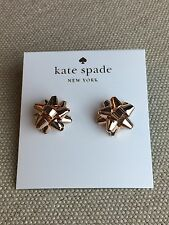 NEW Kate Spade New York Bourgeois Bow Rose Gold Stud Earrings Authentic