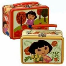 Dora the Explorer Embossed metal Lunch Box Tin Carry-all bag new